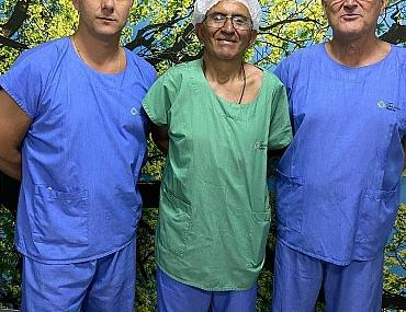 Registro do trabalho em parceria do Dr Leandro Nunes, Dr Jair Cardoso e Dr João Castelan